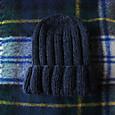 10三目ゴム編みの帽子